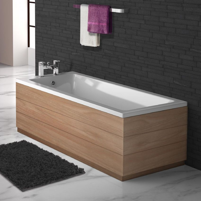 Planked  Matt Walnut 2 Piece adjustable Bath Panels